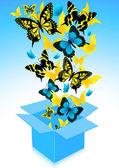 Vliegen uit vlinders — Stockvector