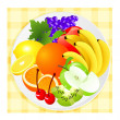 Stock Vector: Fruit plate