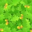 Oak leaf seamless background — Stockvectorbeeld