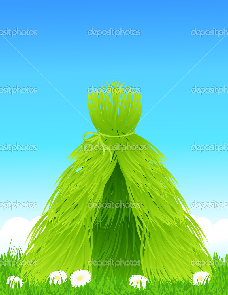 Green shelter, vector illustration — Grafika wektorowa #3686867