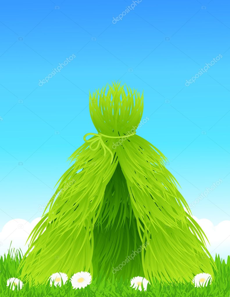 Green shelter, vector illustration — ベクター素材ストック #3686867