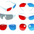 3D glasses — Stock Vector