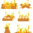 Bonfire set — Stock Vector