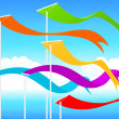Stock Vector: Fluttering flags