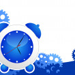 Stock Vector: Alarm clock background