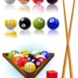 Billiard_objects — Stock Vector