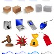 iconos de clip art — Vector de stock