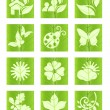Leaf icons — Stock Vector #3748643