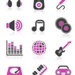Disco icons — Stock Vector