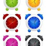 Alarm clock set — Stock Vector
