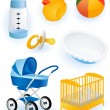 Baby accessories - Stock Vector