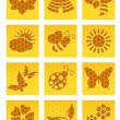Bee icons — Vector de stock