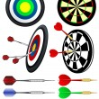 Stock Vector: Darts