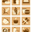 Stock Vector: Bread icons