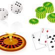 Casino objects - Stock Vector