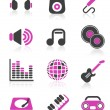Disco icons — Vector de stock