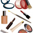 Makeup objects - Stock Vector