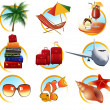 Stock Vector: Holiday objects