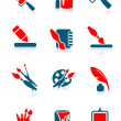 Drawing icons — Stock Vector