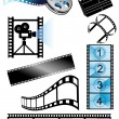 Stock Vector: Movie_objects