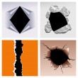 Paper holes - Imagens vectoriais em stock