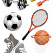 Sport_objects — Stock Vector