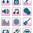 Royalty-Free Stock Imagem Vetorial: Music and sound icons