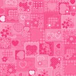 Love pink background — Vector de stock