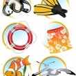 Stock Vector: Swimming icons