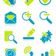 Office object icons - Stock Vector