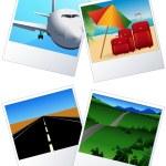 Travel_photos — Stock Vector