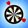 Target and darts — Image vectorielle