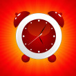 Stock Vector: Red alarm clock