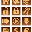 Stock Vector: Wooden icons