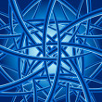 Blue curves — Stock Vector