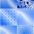Blue_graphic_textures — Image vectorielle