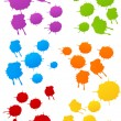Colored blots — Stock Vector