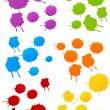 Colored blots — Stock Vector