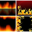 Flame set — Stock Vector