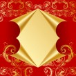 Royalty-Free Stock Vector Image: Hole in luxury golden paper