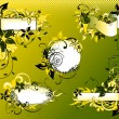 Green_floral_frame_collection — Stockvectorbeeld