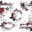 Red_and_black_floral_frame_collection — Image vectorielle