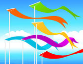 Fluttering flags — Stock Vector