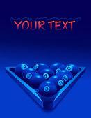 Billiard_balls_in_the_neon_lightning — Stock Vector