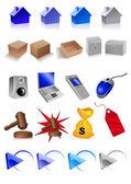 Clip art icons — Stock Vector