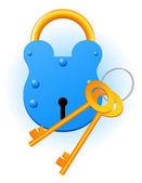 Blue lock — Stock Vector