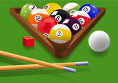 Billiard — Stock Vector