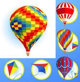 Kitleri ve balon — Stok Vektör