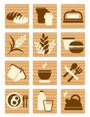 ícones de pão — Vetorial Stock