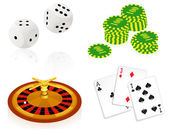 Casino objects — Stock Vector
